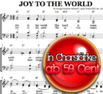 Joy to the world - Chornoten zum Download