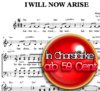 I will now arise - Hanjo Gäbler, Chornoten zum Download
