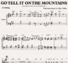 Go tell it on the mountain - Klaviernoten