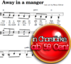 Away in a manger- Chornoten zum Download