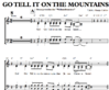 Go tell it on the mountans - Chornoten zum Download